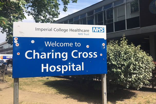 Fewer Covid patients in critical care wards at Charing Cross