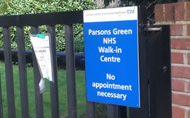 NHS Urgent Care Walk-in Centres to Remain Closed