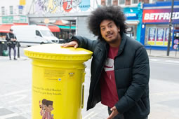 Yellow Postbox Unveiled on Uxbridge Road
